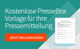 PresseBox Vorlage Pressemitteilung